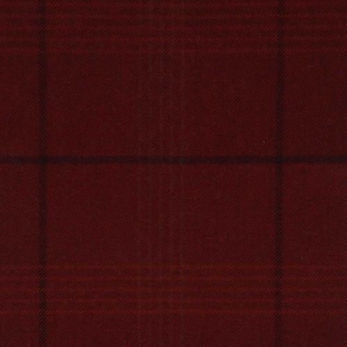 Seren Check Wool Fabric Cinnabar Red