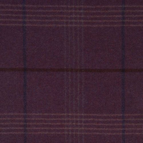 Seren Check Wool Fabric Dewberry Purple