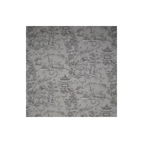 Dark Grey Toile Linen Union Fabric