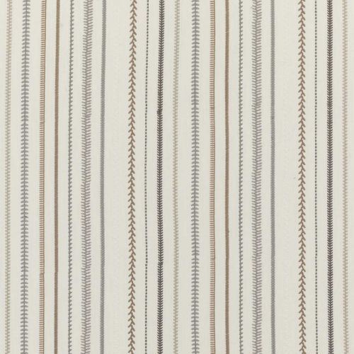 Sintra Embroidered Fabric Stone Neutral Grey Striped