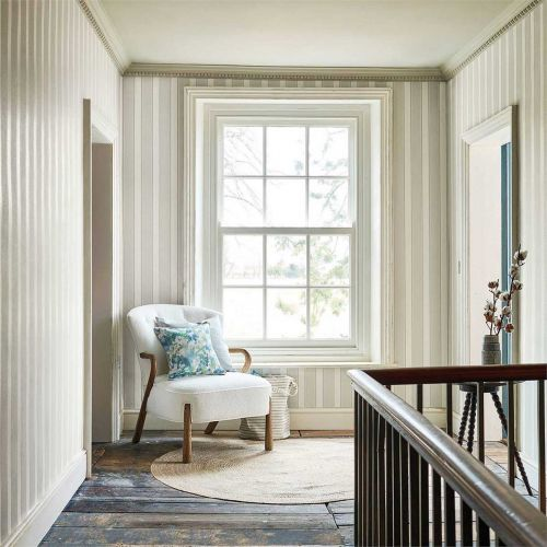 Sonning Grey and Cream Wallpaper