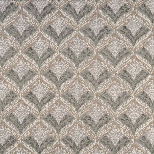 Sotherton Embroidered Fabric Grey Cream