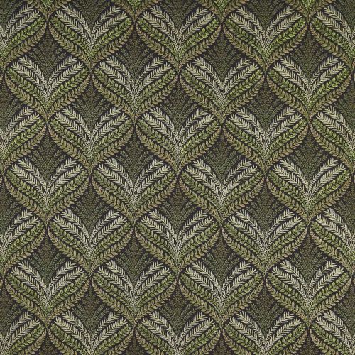 Sotherton Embroidered Fabric Olive Green