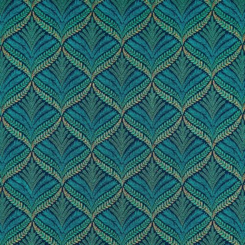 Sotherton Embroidered Fabric Turquoise Green