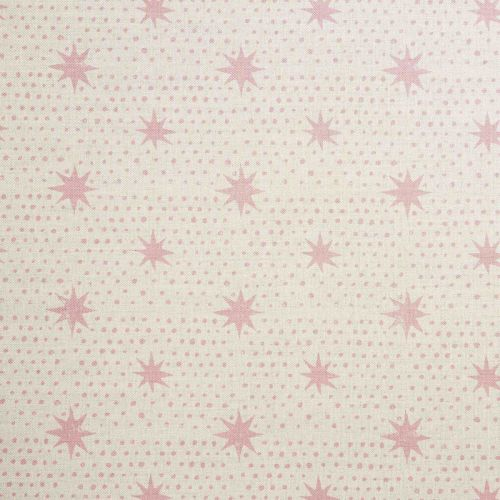 Spot and Star Linen Union Fabric