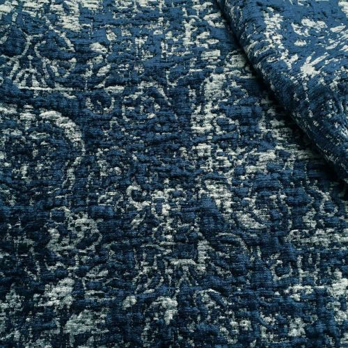 Sulla Fabric Ink Blue Dark Chenille