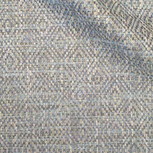Tarsa Fabric Sandstone Blue Neutral Diamond