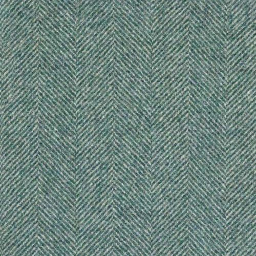 Teal Blue Woven Fabric Moon
