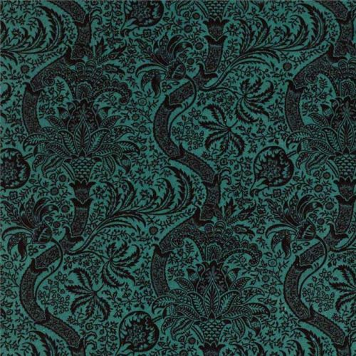 Teal Cotton Velvet Fabric