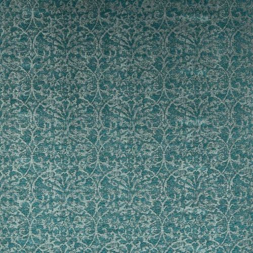 Teal Damask Fabric Marchmain