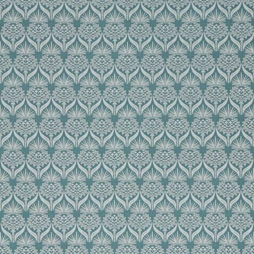 Teal Flower Fabric