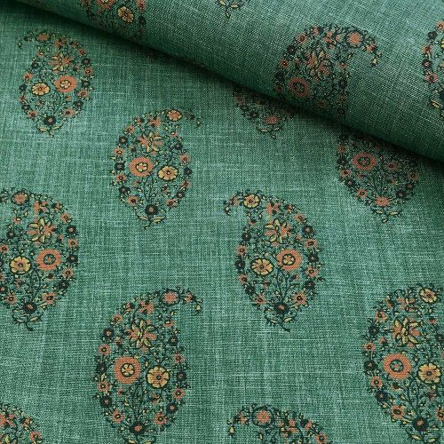 Teal Paisley Fabric
