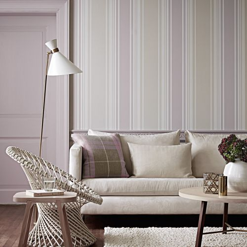 Tented Striped Wallpaper
