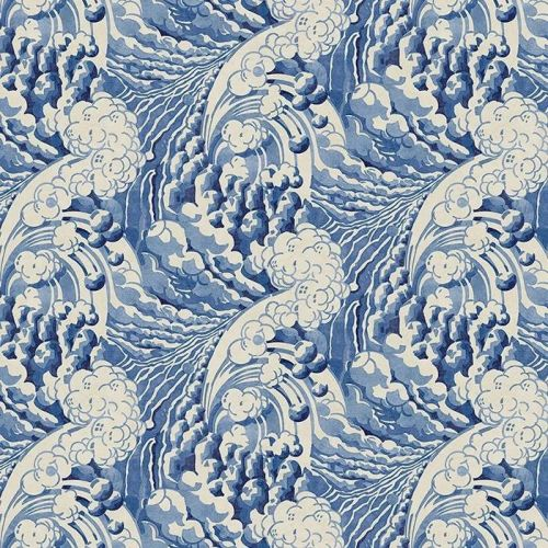 Blue Waves Wallpaper for Walls