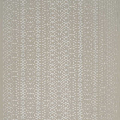 Tigers Eye Embroidered Fabric Ivory Beige