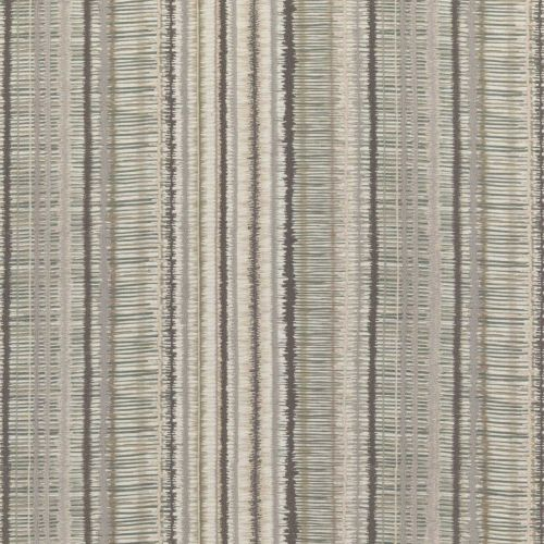 Toledo Embroidered Fabric Stone Neutral Grey Striped