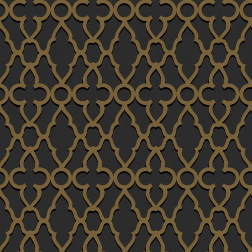Treillage Metallic Bronze Wallpaper