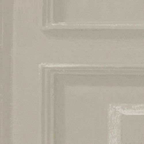 Taupe Panel Effect Wallpaper