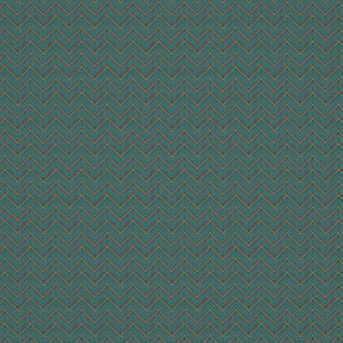 Teal Blue Chevron Fabric