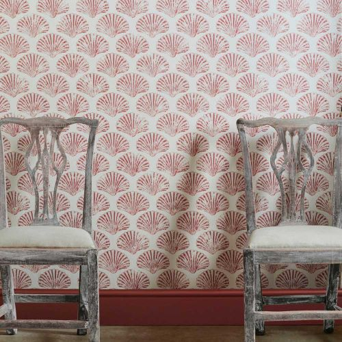Wallpaper with Shell Design