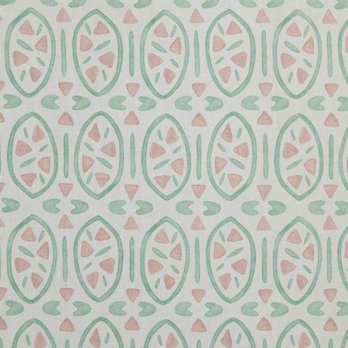 Watermelon Fabric Green Pink Printed Abstract