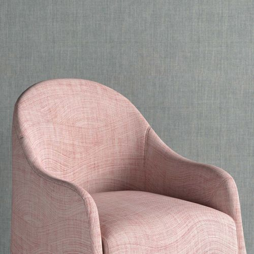 Wave Purple Pink Linen Upholstery Fabric