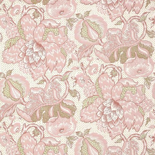 Westmont Wallpaper Blush Pink and Green Floral
