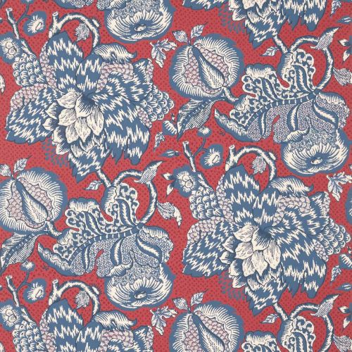 Westmont Wallpaper Red and Blue Floral