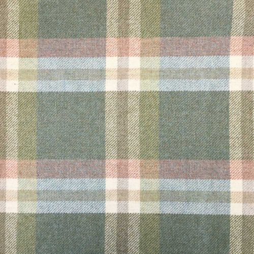 Wigeon Plaid Fabric Moorland Green Pink