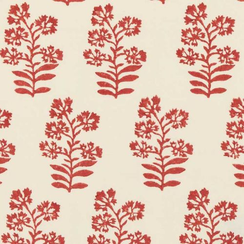 Wild Flower Fabric Rustic Red