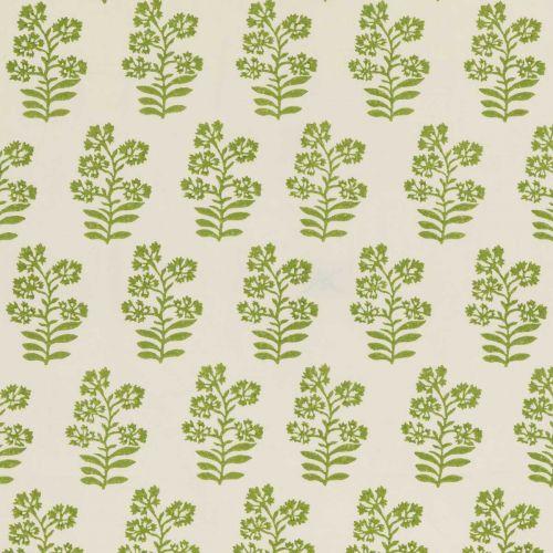 Green Floral Print Fabric