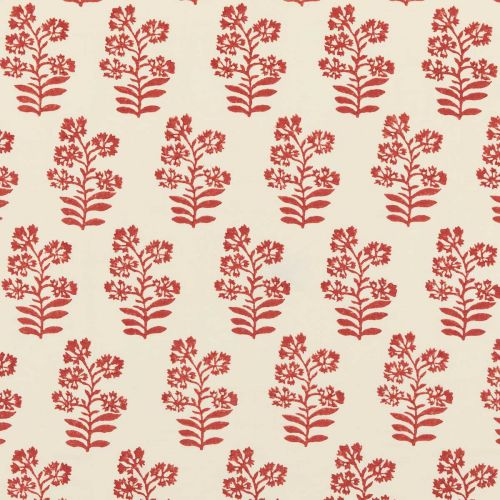 Red Floral Print Fabric