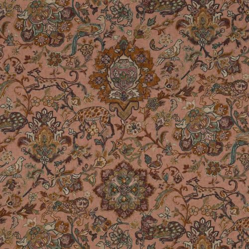 Wild Things Fabric Antique Neutral Brown Turquoise