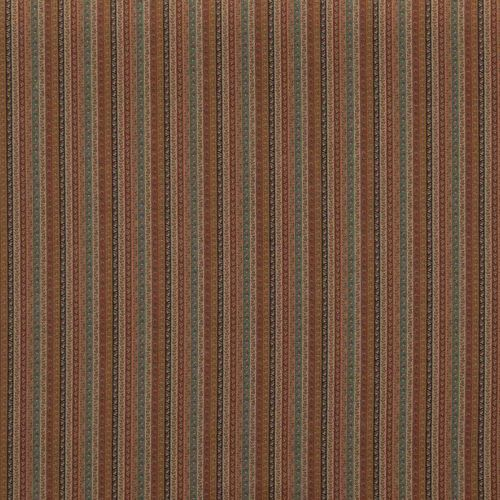 Wilde Stripe Fabric Antique Red Turquoise Neutral