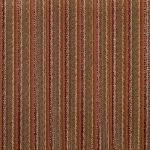 Wilde Stripe Fabric Spice Red Turquoise Green