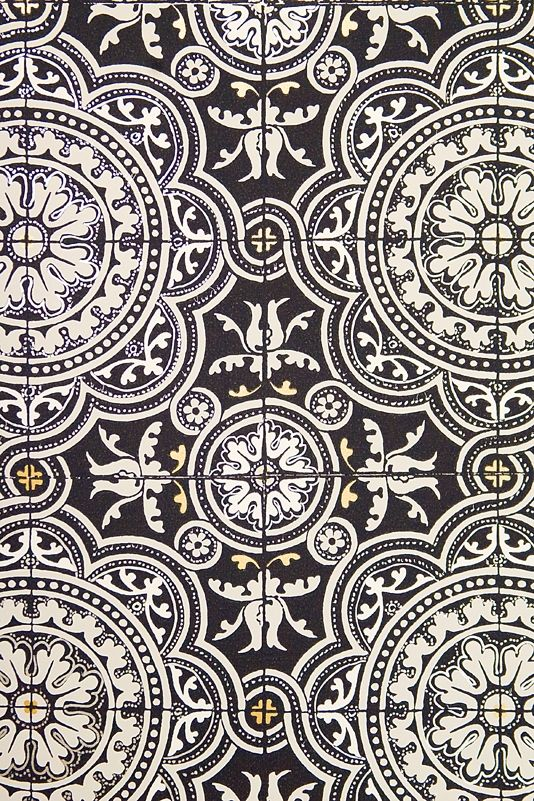 Smart Tiled Effects Wallpaper Black Cole And Son Albemarle Collection