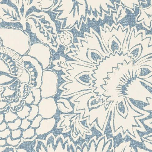Yellow Poppy Damask Wallpaper Sanderson