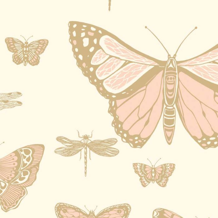 Pink Gold Butterfly Wallpaper Cole Son Designer Wallcovering