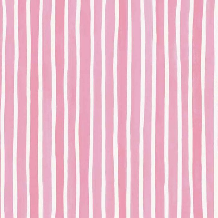 Croquet Stripe Wallpaper in Pink and White | Cole & Son ...