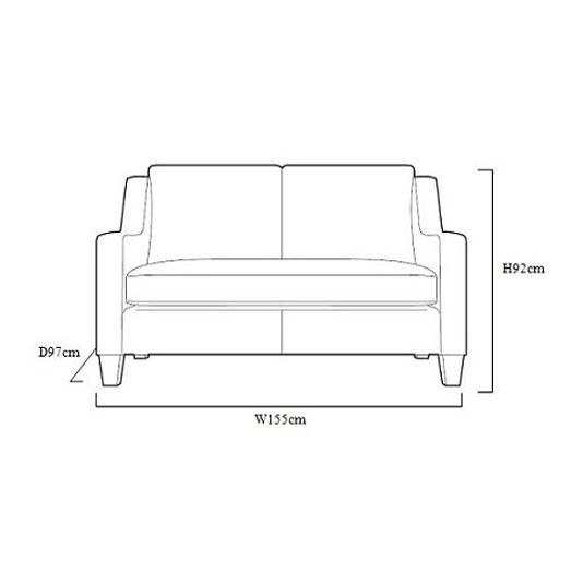 Enjoyable Small 2 Seater Sofas Contemporary Design With Tapered Legs Gmtry Best Dining Table And Chair Ideas Images Gmtryco