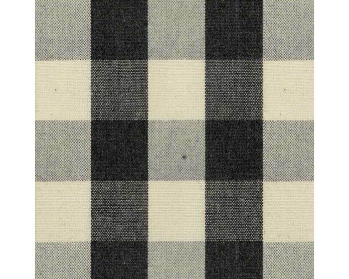 100/% Cotton Gingham Curtain Weight Fabric By The Metre In Black