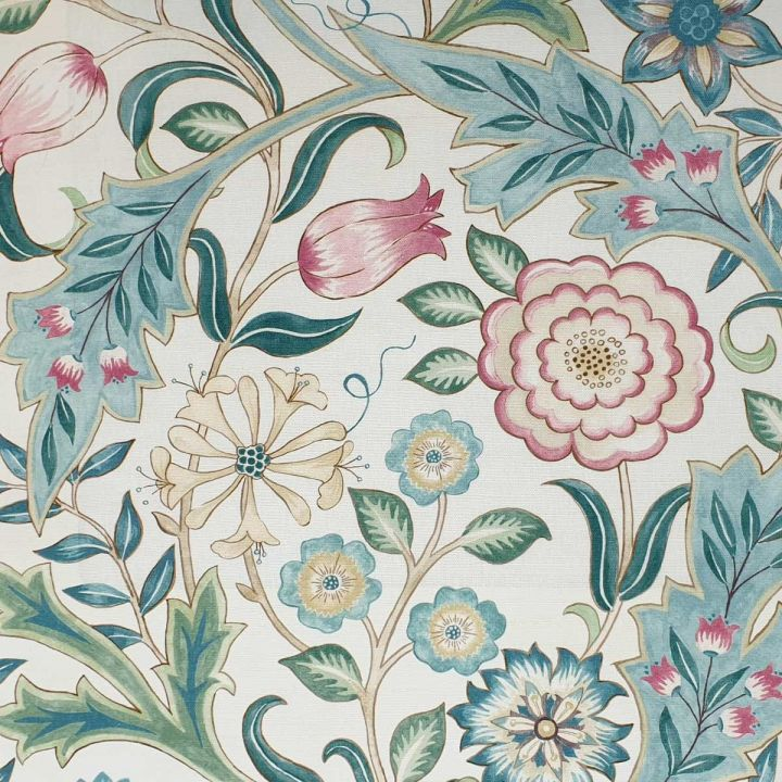 Wilhelmina Floral Fabric In Ivory Morris Co Fabric