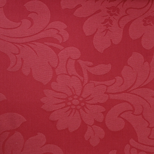 Clarendon Damask Fabric in Claret