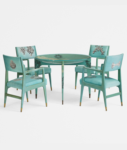Dining set by Ponti and Fornasetti