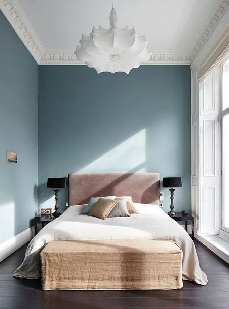 Pink and blue bedroom scheme