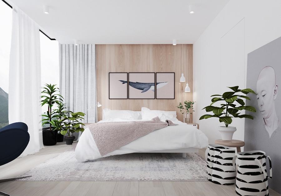 Coastal mauve bedroom scheme