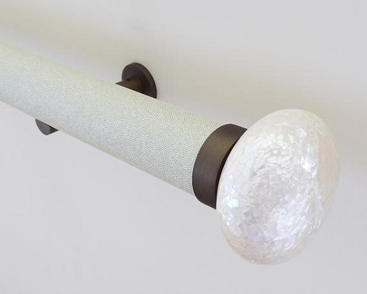 Wrapped White Pepper Curtain Pole