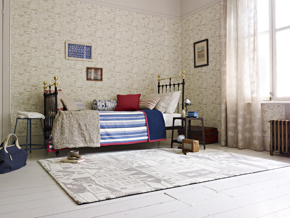 Neutral, Blue and Red boys bedroom