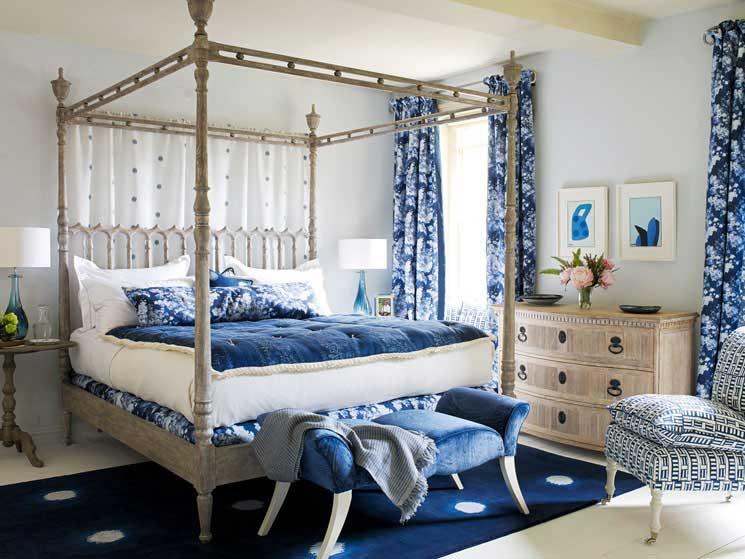 Indigo Blue Bedroom