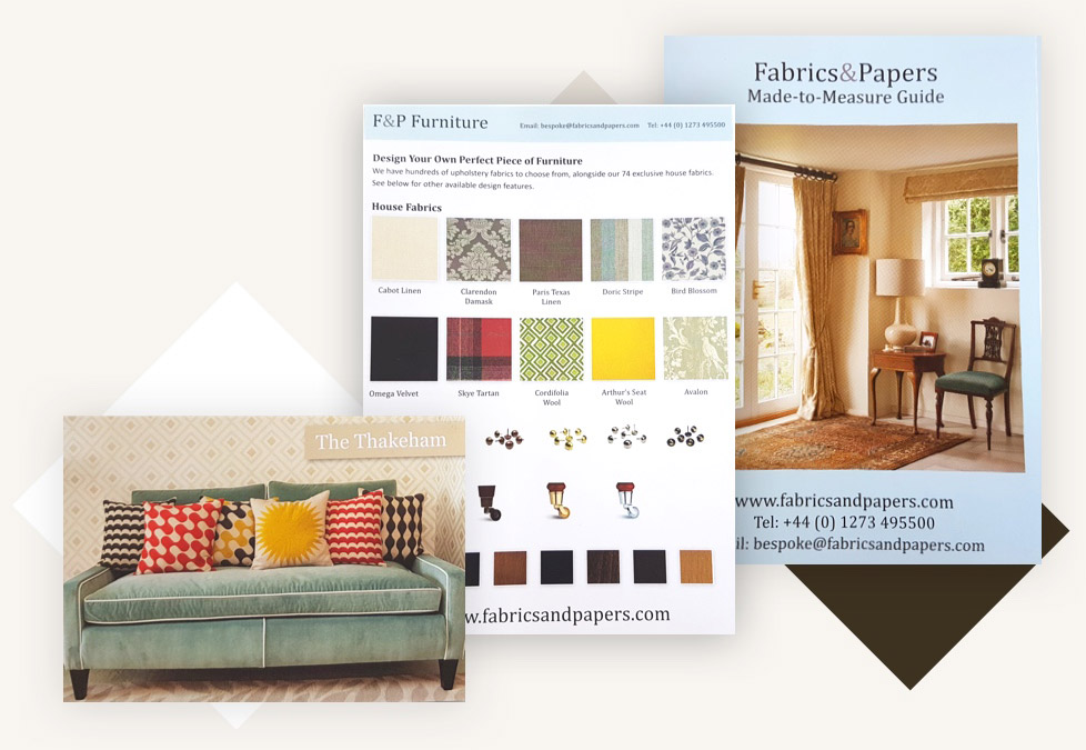 Fabrics and Papers Brochure images